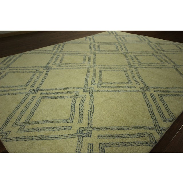 Diamond Moroccan Hand Knotted Rug - 10' x 13' - Image 4 of 10
