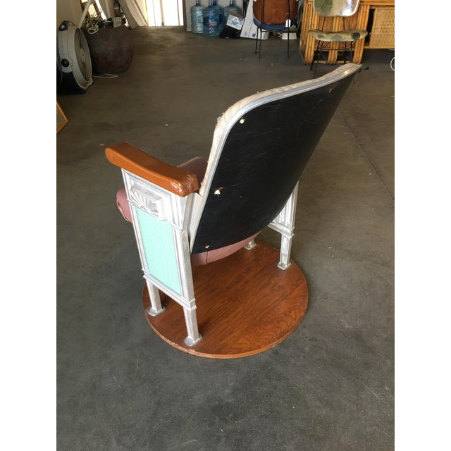 1920s Grand Hollywood Art Deco Movie Theater Chair For Sale - Image 5 of 8