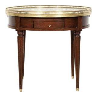 Antique French Louis XVI Style Mahogany Bouillotte Side Table For Sale
