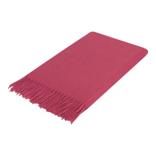 Curated Kravet Lusuosso Cashmere Throw - Berry