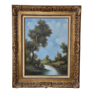 1960s Oil Painting Della Valle Original Signed on Canvas For Sale