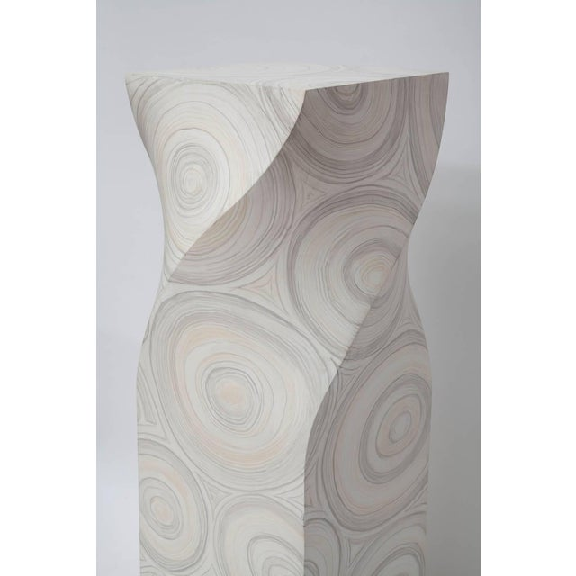 1970s 1970s Helix Twisted Fau Painted Agate Pedestals - a Pair For Sale - Image 5 of 11
