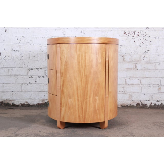 Charles Pfister for Baker Art Deco Primavera Three-Drawer Oval Commode Bachelor Chest For Sale - Image 10 of 13