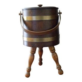 20th Century Rustic Shoe Shine Barrel For Sale