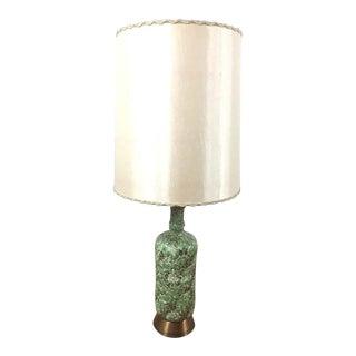 Vintage Green Textured Ceramic Table Lamp