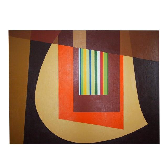 Large, impressive work signed JERVIS 1972; possibly the work of noted ceramic artist DOROTHY JERVIS (1909-1980, American /...