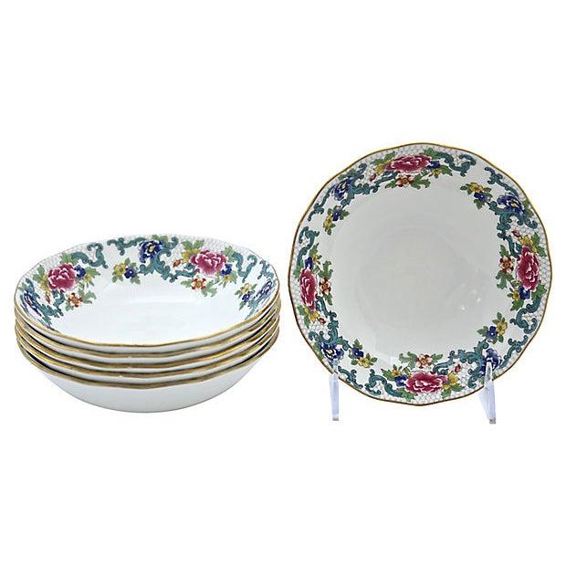 Royal Doulton Vintage Royal Doulton Floradora Berry Bowls - Set of 6 For Sale - Image 4 of 4