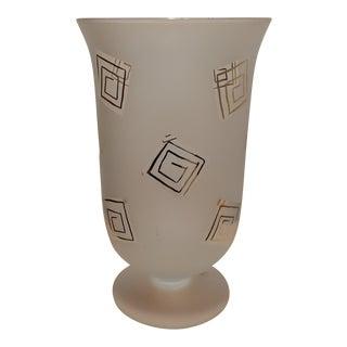Large Italian Made Hurricane Vase
