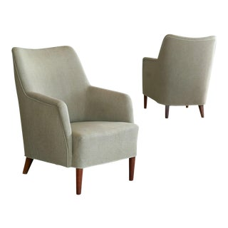 Danish Modern 1960s Kurt Ostervig Style Lounge Chairs - A Pair For Sale