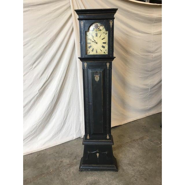 Empire 19th Century Danish Empire Long Case Clock For Sale - Image 3 of 11