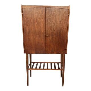 1960s Mid-Century Danish Teak Bar Cabinet For Sale