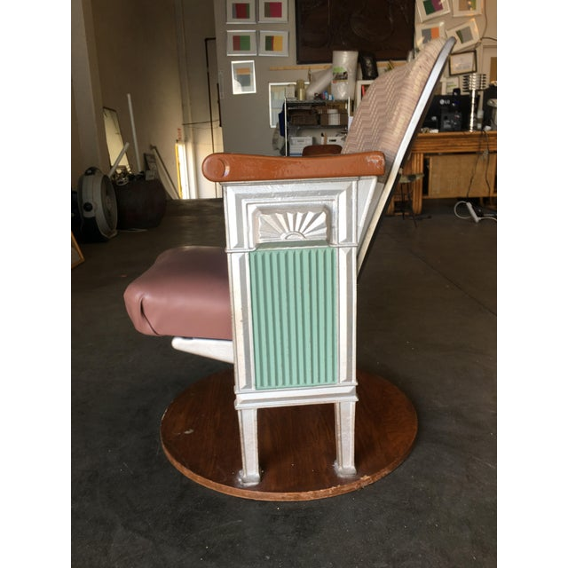 Grand Hollywood Art Deco Movie Theater Chair For Sale - Image 4 of 8