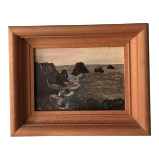 Nautical Vintage French Moody Seascape