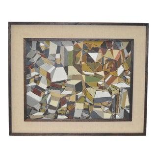 Eugene Peart Bennett Geometric Abstract Oil Painting c.1961