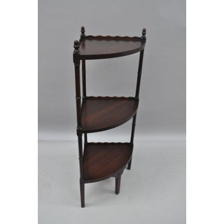 Vintage Georgian Style Mahogany Bamboo Corner Stand Preview