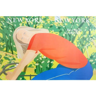 Alex Katz -Bicycling in Central Park Poster For Sale