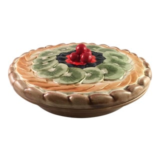 Ceramic Fruit Pie Dish With Lid For Sale