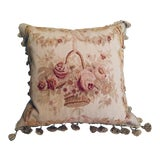 Image of French Aubusson Tapestry Pillow For Sale