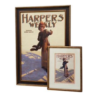 "George Watson Barratt (American, 1884-1962) ""Harpers Weekly"" Original Illustration C.1912 For Sale"