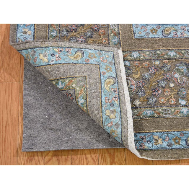 2010s Cypress Tree Silk With Oxidized Wool Hand-Knotted Rug- 9′1″ × 12′ For Sale - Image 5 of 13