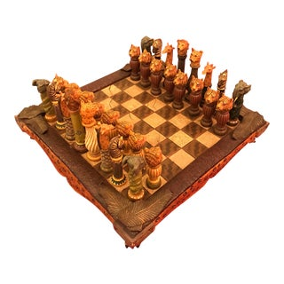 African Animal Chess Set For Sale