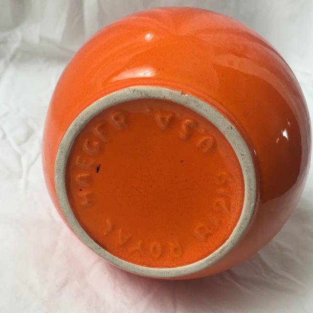 Vintage Haeger Pottery Orange Red Glaze Bud Vase - Image 4 of 7