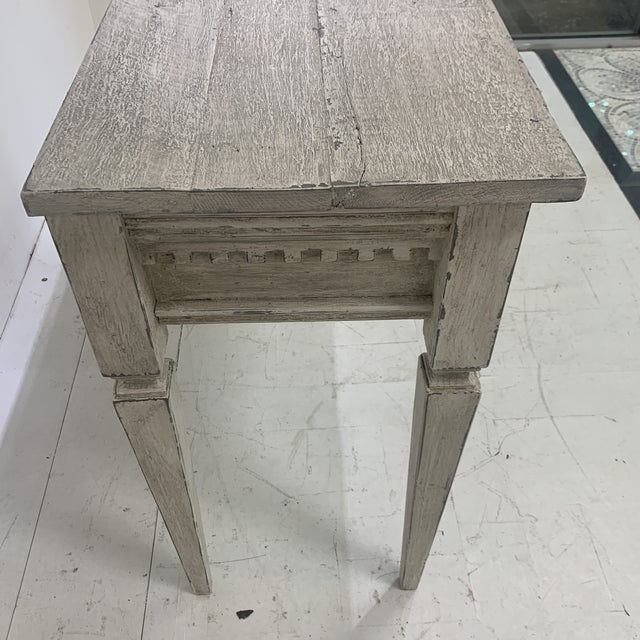 1990s Custom Console With Antique Pediment For Sale - Image 11 of 13