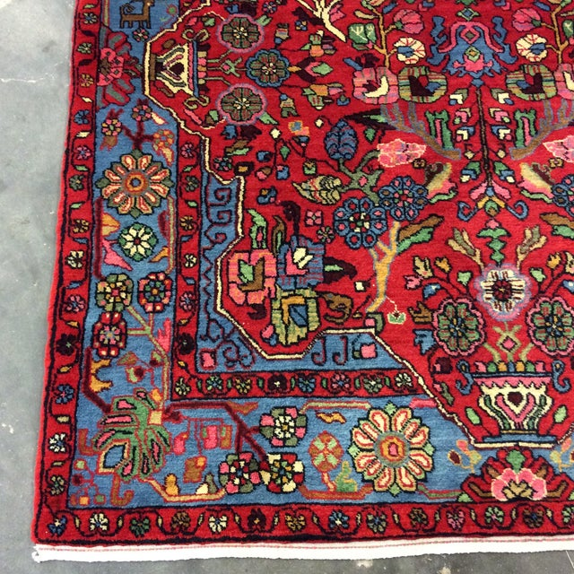 Boho Chic 1980s Vintage Nahavand Persian Rug - 5′2″ × 8′ For Sale - Image 3 of 5