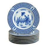 Image of 1950s Sigma Parasol Salad Plate - Set of 8 For Sale