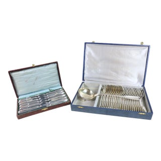 Louis XVI Style Flatware Set - 37 Pieces For Sale