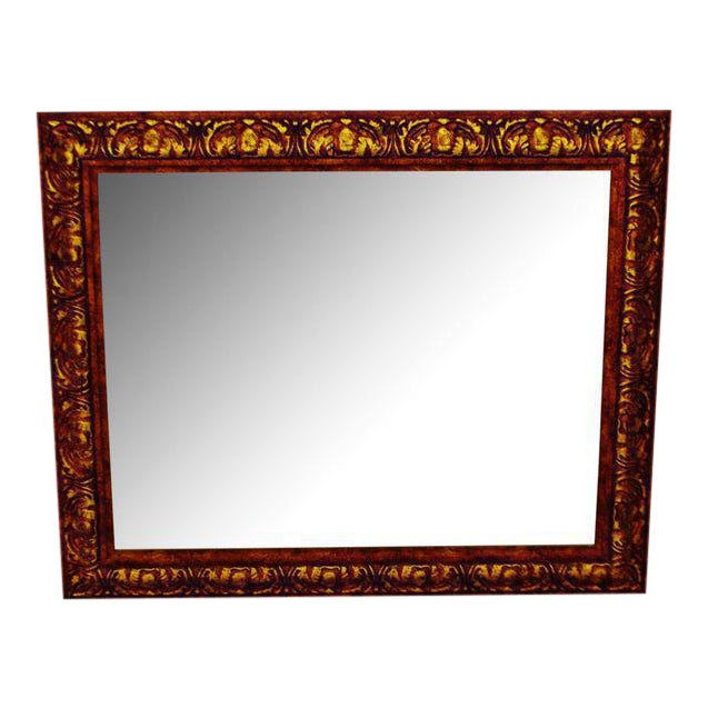 Decoratively Framed Bevelled Wall Mirror 34 x 28 - Image 1 of 8