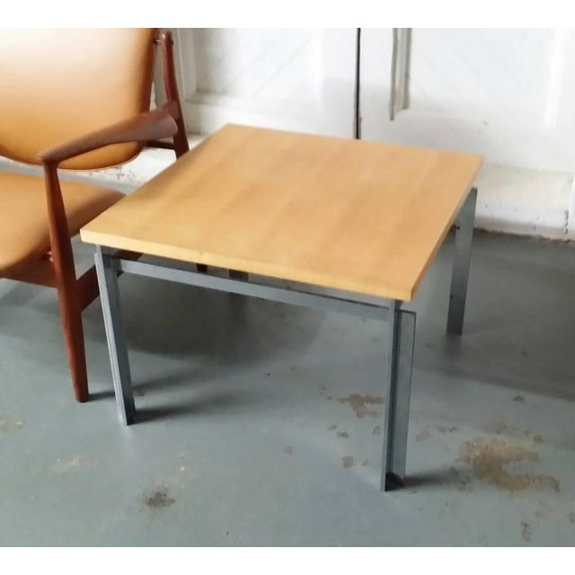 "Rare Poul Kjaerholm Pk55 ""Variant"" Table For Sale In Providence - Image 6 of 6"