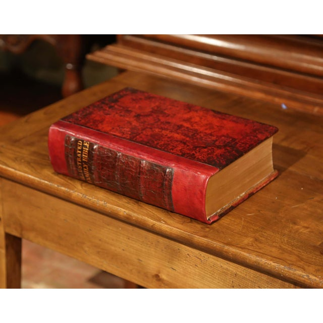 Gothic Early 20th Century Leather and Gilt Illustrated King James Version Family Bible For Sale - Image 3 of 12