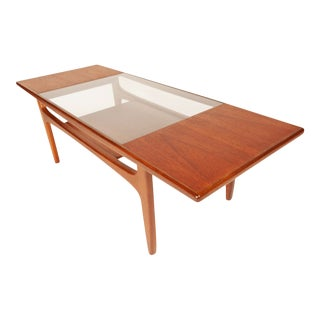 "Vintage G-Plan 1960 ""Fresco"" Teak & Glass Coffee Table For Sale"