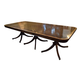 Kittinger Triple Pedestal Dining Table For Sale
