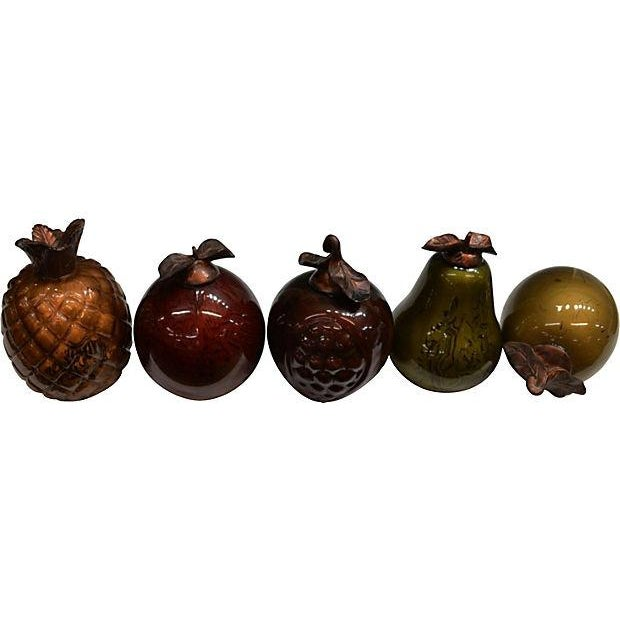 Art Glass Fruit Figures - Set of 5 - Image 1 of 4