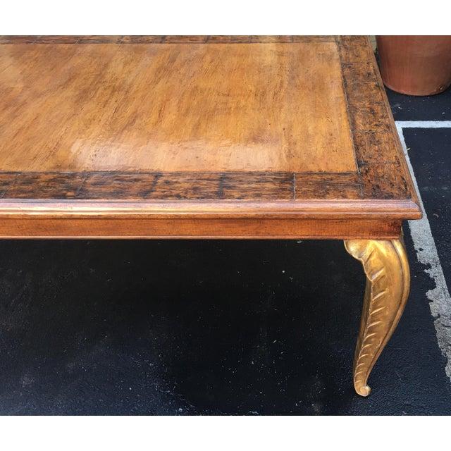 Randy Esada Designs for Prospr Spectacular Carved French Dining Table W Palm Leaf Leg by Randy Esada Designs For Sale - Image 4 of 7