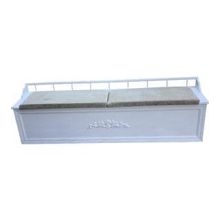 French White Storage Bench For Sale