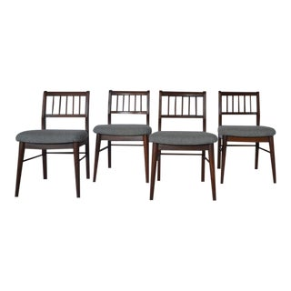 Mid-Century Mahogany Dining Chairs - Set of 4