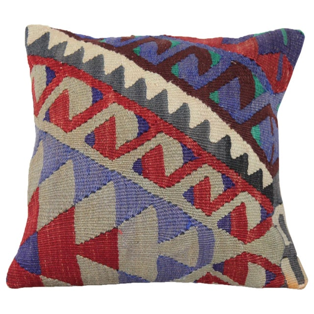 Turkish Handmade Kilim Pillow Cover - Image 1 of 5
