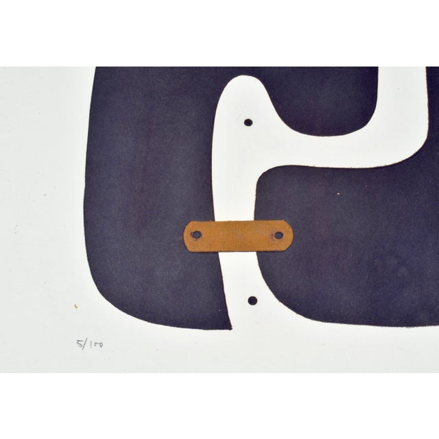 Abstract Conrad Marca-Relli Abstract Framed Collage, Circa 1969 For Sale - Image 3 of 6