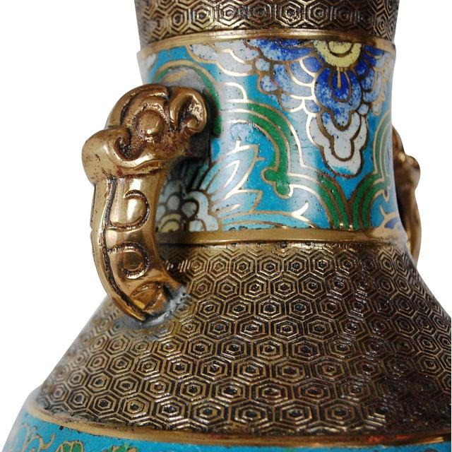 Bronze Champlevé Lamp - Image 3 of 8