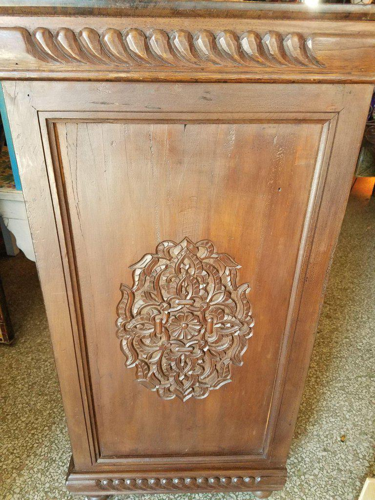 Islamic Moroccan Carved Wooden Cabinet For Sale   Image 3 Of 7