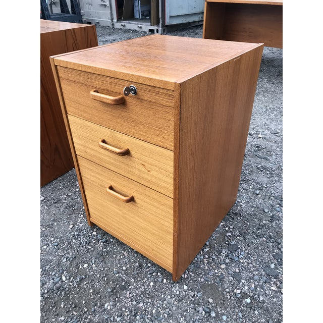 Danish Teak File Cabinet on Casters by Jesper For Sale - Image 13 of 13