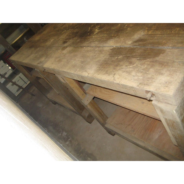 1900s Industrial Railroad Work Bench For Sale - Image 10 of 13