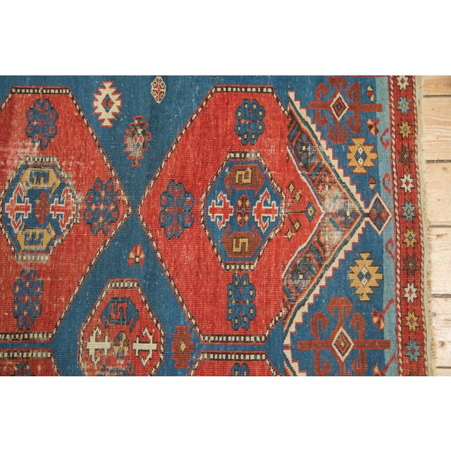 "Shabby Chic Antique Shirvan Rug - 4'4"" x 7'8"" For Sale - Image 3 of 11"