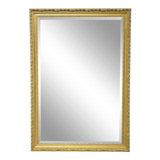 Carolina Mirror Company Gilt Framed Beveled Mirror For Sale