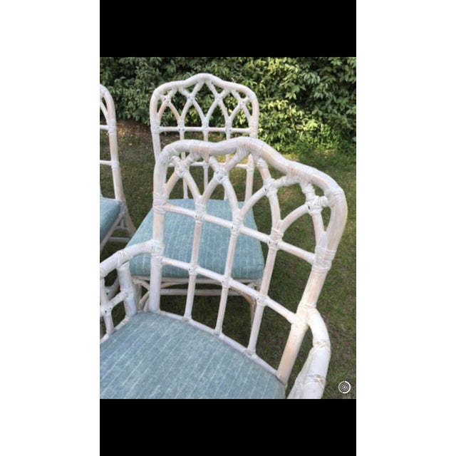 McGuire McGuire Bamboo Chinese Chippendale Chairs - Set of 6 For Sale - Image 4 of 13