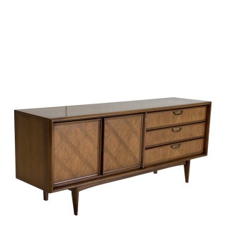 Mid Century Walnut Lowboy Dresser For Sale