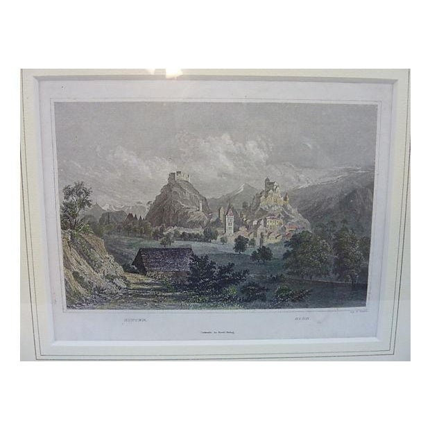 Sitten Switzerland Framed Lithograph - Image 3 of 5